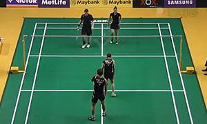 催率圭/蔡侑玎VS麦克斯/尼尔特 2015马来公开赛 混双1/16决赛视频