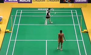 因达农VS三谷美菜津 2015马来公开赛 女单1/16决赛视频