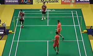 柴飚/洪炜VS吴蔚昇/陈蔚强 2015马来公开赛 男双1/16决赛视频