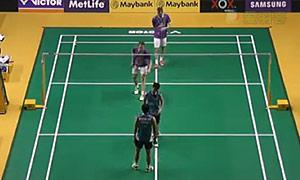 鲍伊/摩根森VS费尔纳迪/苏卡穆约 2015马来公开赛 男双1/16决赛视频
