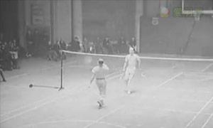 您见过吗?1938年的花式羽毛球表演赛