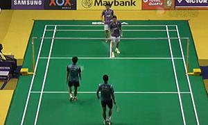 阿山/塞蒂亚万VS安德烈/古纳万 2015马来公开赛 男双1/8决赛视频