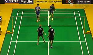 张楠/赵芸蕾VS阿伦茨/皮克 2015马来公开赛 混双1/8决赛视频