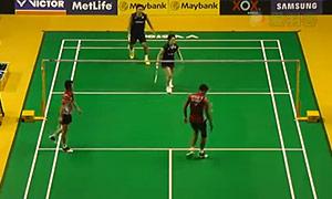 艾哈迈德/纳西尔VS园田启悟/福万尚子 2015马来公开赛 混双1/8决赛视频