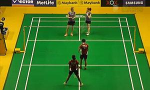 赫特里克/迈克斯VS艾米利亚/宋佩珠 2015马来公开赛 女双1/8决赛视频