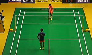 林丹VS田厚威 2015马来公开赛 男单1/4决赛视频
