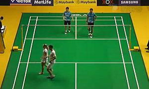艾哈迈德/纳西尔VS爱德考克/加布里 2015马来公开赛 混双1/4决赛视频