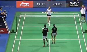 尼克拉斯/蒂格森VS乔普拉/蓬纳帕 2015新加坡公开赛 混双1/16决赛视频