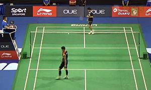 卡什亚普VS李炫一 2015新加坡公开赛 男单1/16决赛一分6合视频