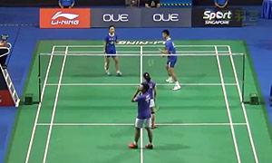 徐晨/马晋VS乔丹/苏珊托 2015新加坡公开赛 男双1/16决赛视频