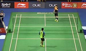 孙完虎VS加卢西达 2015新加坡公开赛 男单1/16决赛一分6合视频