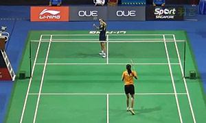 奥原希望VS菲尔达萨里 2015新加坡公开赛 女单1/16决赛视频