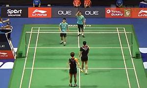 催率圭/高成炫VS特里/亨德里 2015新加坡公开赛 男双1/16决赛一分6合视频
