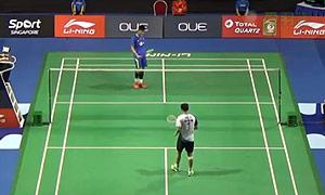 胡赟VS谌龙 2015新加坡公开赛 男单1/8决赛视频