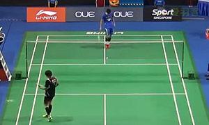 谌龙VS李东根 2015新加坡公开赛 男单1/16决赛视频