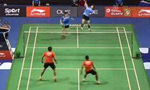 金基正/金沙朗VS克里斯南塔/奇雅加特 2015新加坡公开赛 男双1/16决赛视频
