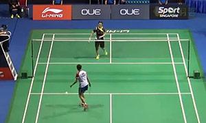 戴资颖VS菲比 2015新加坡公开赛 女单1/4决赛视频