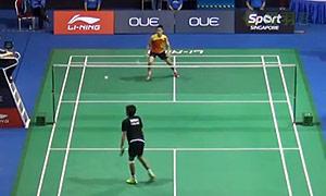 西蒙VS坦农萨克 2015新加坡公开赛 男单1/4决赛视频