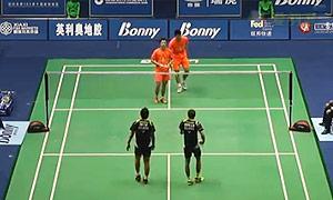 王懿律/张稳VS徐家铭/区耀汉 2015中国大师赛 男双1/8决赛视频