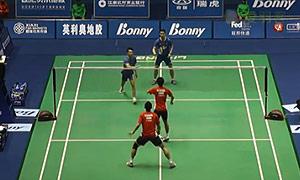 康骏/刘成VS佐伯裕行/垰畑亮太 2015中国大师赛 男双1/4决赛视频