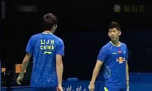 李俊慧/刘雨辰VS王懿律/张稳 2015中国大师赛 男双决赛视频