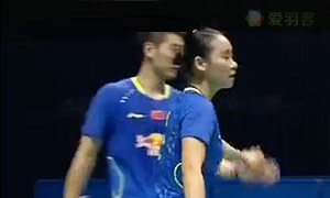 刘成/包宜鑫VS苏巴蒂亚/维德佳佳 2015中国大师赛 混双决赛视频