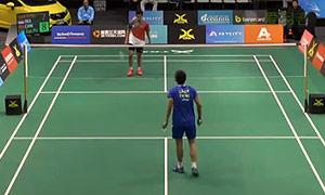林贵埔VS西蒙 2015新西兰公开赛 男单资格赛视频