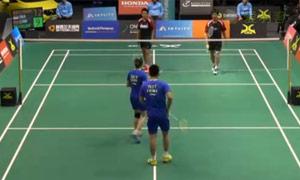 于小渝/夏欢VS安德烈/玛丽莎 2015新西兰公开赛 混双1/4决赛视频