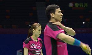 陈炳顺/吴柳萤VS金荷娜/高成炫 2015苏迪曼杯 混双资格赛视频