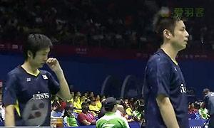 伊萬諾夫/索松諾夫VS遠藤大由/早川賢一 2015蘇迪曼杯 男雙資格賽視頻