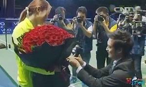 【祝福汪鑫】浪漫八分钟 苏迪曼杯现场上演求婚