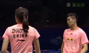 刘成/赵芸蕾VS尼迪蓬/普缇塔 2015苏迪曼杯 混双资格赛视频