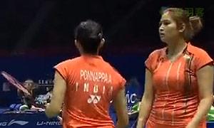 张艺娜/郑景银VS古塔/蓬纳帕 2015苏迪曼杯 女双资格赛视频