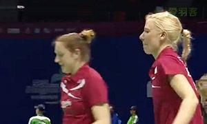 尼蒂娅/波莉VS迈肯/赫斯波 2015苏迪曼杯 女双资格赛视频