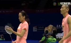 张楠/赵芸蕾VS福克斯/迈克斯 2015苏迪曼杯 混双1/4决赛视频