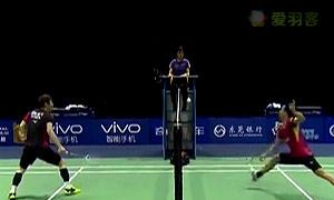 慢镜回放日本男单争议判罚:球触网 拍子未触网