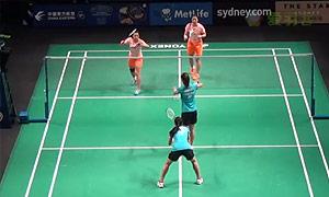汤金华/田卿VS宗空潘/拉温达 2015澳洲公开赛 女双资格赛视频
