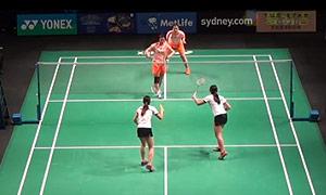 汤金华/田卿VS潘乐恩/谢影雪 2015澳洲公开赛 女双1/8决赛视频