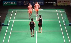 刘成/鲁恺VS高成炫/申白喆 2015澳洲公开赛 男双1/4决赛一分6合视频