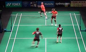 刘成/包宜鑫VS崔钟宇/严惠媛 2015澳洲公开赛 混双1/4决赛视频