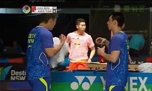刘小龙/邱子瀚VS古健杰/陈文宏 2015澳洲公开赛 男双1/4决赛视频