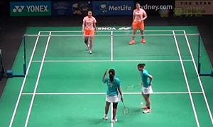 汤金华/田卿VS尼蒂娅/波莉 2015澳洲公开赛 女双1/4决赛一分6合视频