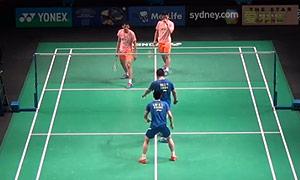 刘成/鲁恺VS刘小龙/邱子瀚 2015澳洲公开赛 男双半决赛视频