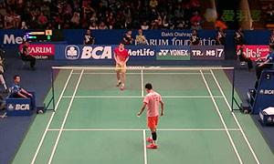 谌龙VS魏楠 2015印尼公开赛 男单1/16决赛视频