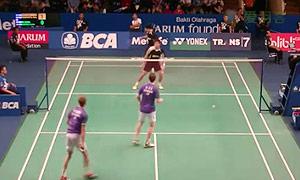 鲍伊/摩根森VS博丁/尼迪蓬 2015印尼公开赛 男双1/16决赛视频