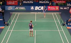 施纳泽VS姚雪 2015印尼公开赛 女单1/16决赛视频