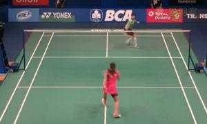 因达农VS白驭珀 2015印尼公开赛 女单1/16决赛视频
