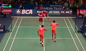 喬普拉/迪瓦卡VS阿德里安/德里克 2015印尼公開賽 男雙1/16決賽視頻