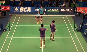 阿山/塞蒂亚万VS费尔纳迪/苏卡穆约 2015印尼公开赛 男双1/8决赛视频
