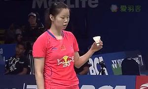 山口茜VS李雪芮 2015印尼公开赛 女单1/8决赛视频